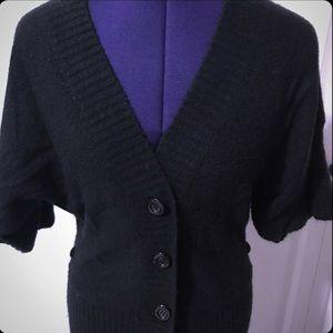 Next Era Couture Black Kimono Sleeve Cardigan